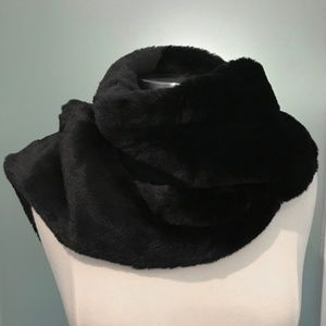 BCBGeneration Black Faux Fur Scarf